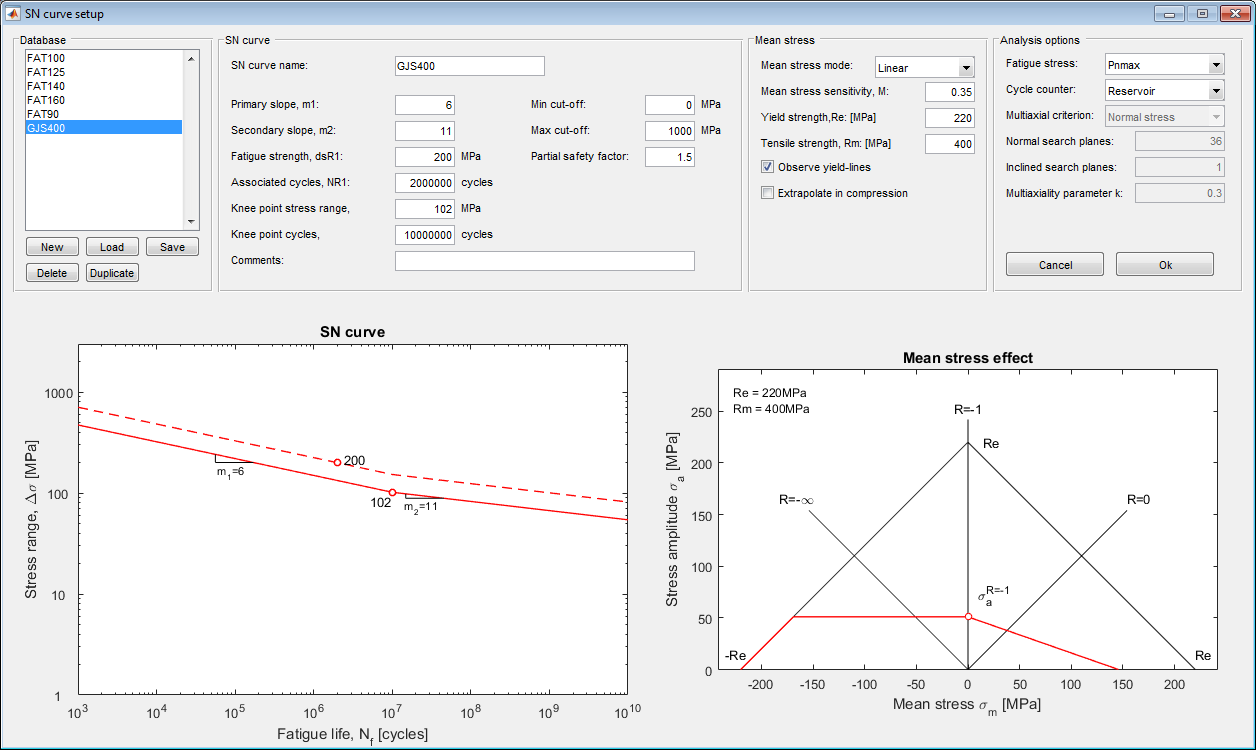 Running an analysis | FatigueToolbox org